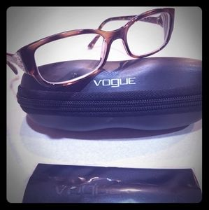 Vogue eyeglasses plastic tortoise 50mm 16mm 135 mm